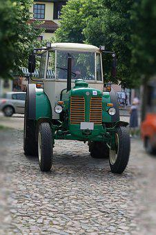 Tractor, Old, Oldtimer, Agriculture, Historically