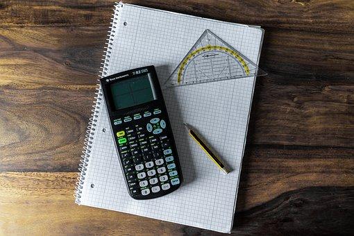 Calculator, Writing Pad, School, Count, Paper, Pen