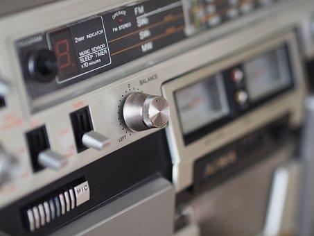 Radio, Cassette Recorder, Close Up, Audio, Studio