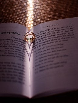 Ring Love, Book, Light, Shadow, Rings, Romantic