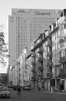 City, Berlin, Road, Charité, Hospital
