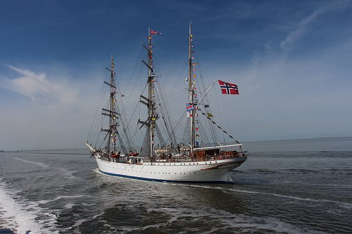 Tall Ship, Norway, Wadden Sea, Sailing Boat, Harlingen