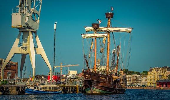 Ship, Sailing Vessel, Three Masted, Pirate Ship, Pier