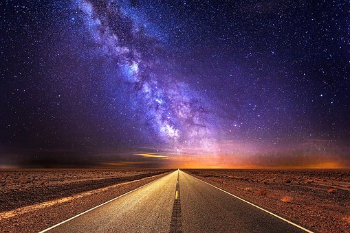 Road, Highway, Milky Way, Sky, Star, Travel, Vacations