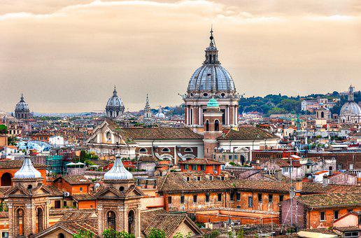 Rome, St Peter's Basilica, City, Italy, Church, Dome