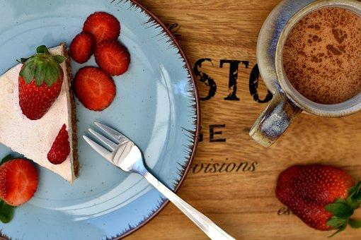 Cake, Dessert, Slice, Strawberry, Berries, Fruit, Fresh