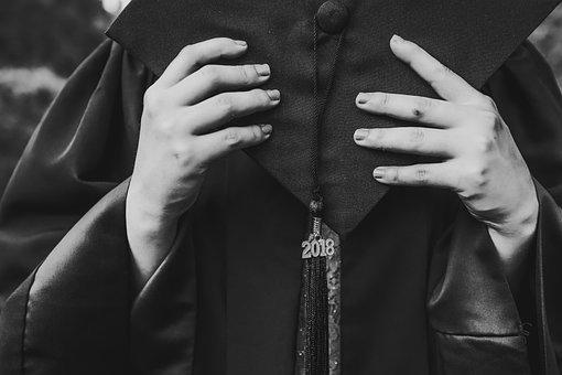 Graduation, Senior, Gown, Finish, Students, Dress