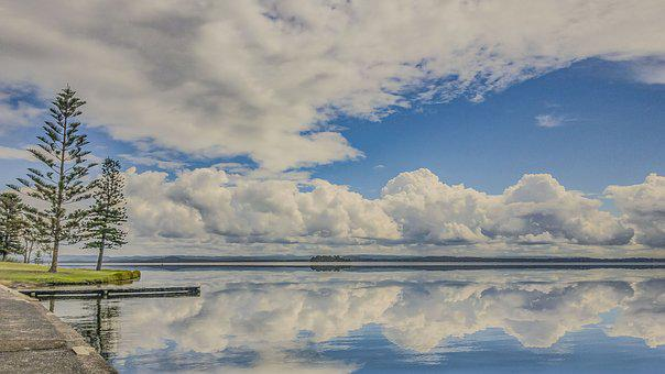 Reflection, Lake, Clouds, Weather, Landscape, Sunrise