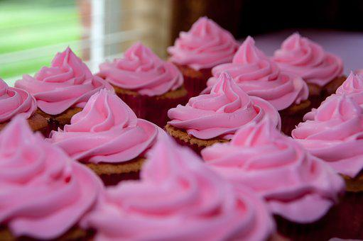 Cup Cakes, Pink, Sweets, Desert