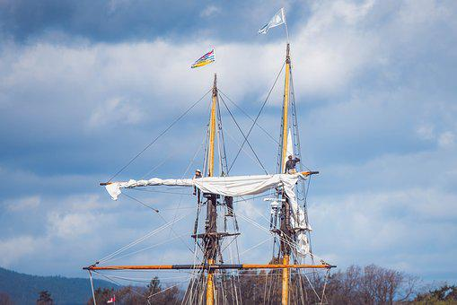 Mast, Sailboat, Sailing, Clouds, Cloudy, Sky, Adventure