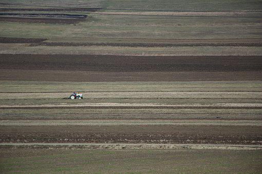 Agriculture, Fields, Tractor, Nature, Landscape, Spring