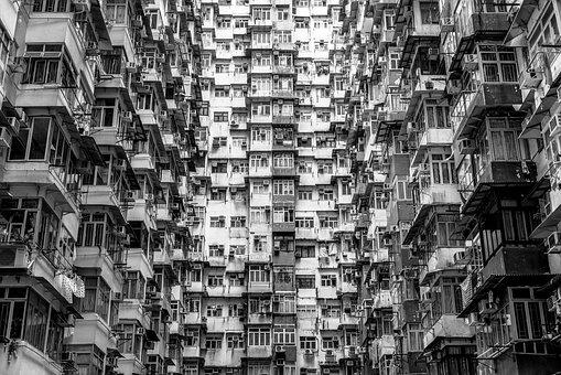 Hong Kong, Skyscrapers, China, Asia, Architecture