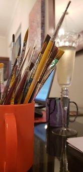 Work, Brushes, Artist, Celebration