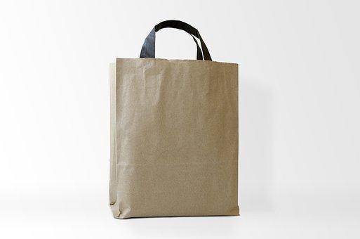 Bag, Kraft Bag, Paper, Blank, Kraft, Container, Brown
