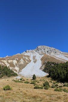 Mountains, Switzerland, Path, Blue, Sky, Nature
