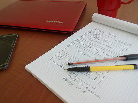 Book, Pencil, Code, Programming, Red, Notebook