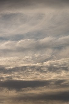 Clouds, White, Grey, Cloudscape, Delicate, Layers