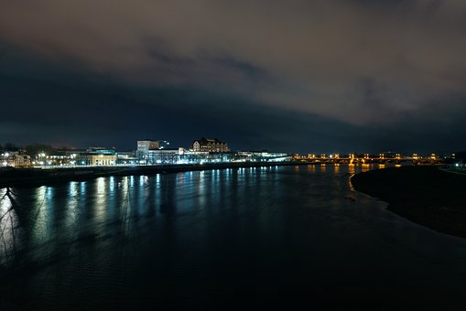 Dresden, Augustus Bridge, Elbe, Railway Station