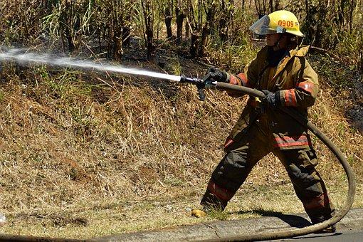 Firefighter, Fire, Helmet, Team, Work, Protection