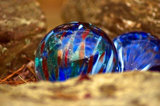 Glass Yard Ornament, Glass, Sphere, Ball, Bubble