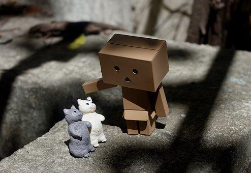 Danbo, Outdoor, Toy, Cat, Kitten, Domestic, Figurine