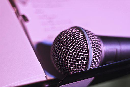 Microphone, Music, Evening, Event, Talk, Lecture, Sing