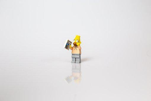 Simpsons, Grandpa, Lego, Reflection, Old Man, Abraham
