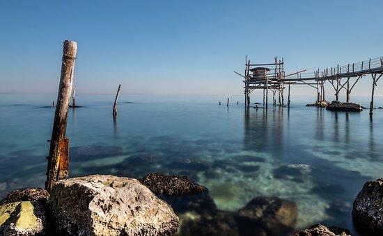 Sea, Overflow, Trabocchi, Abruzzo, Fishing, Landscape