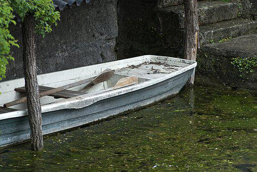 Boat, Rowing Boat, Old, Water