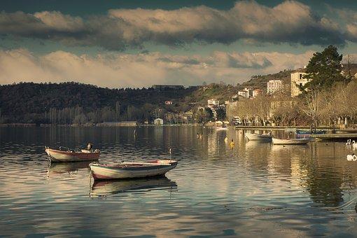 Boats, Lake, Boat, Nature, Blue, Sail, Fishing, Sky