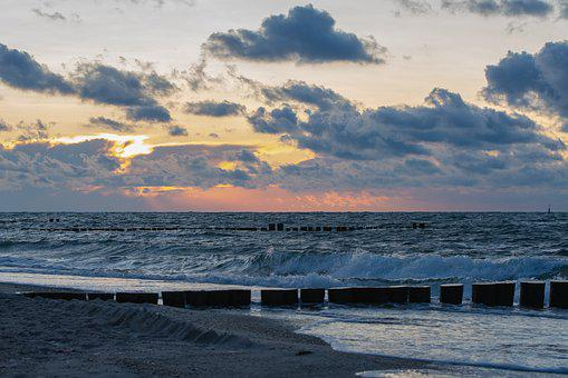 Clouds, Evening, Baltic Sea, Sunset, Sky, Nature, Mood