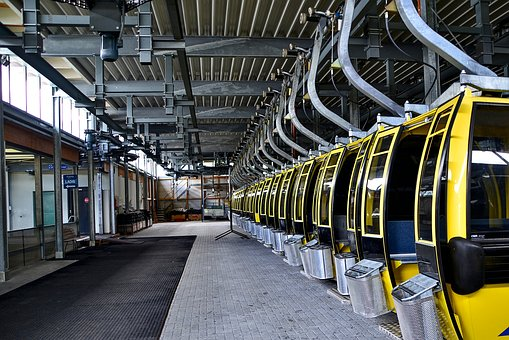 Cable Car Cabins, Hall, Service, Technology, Transport