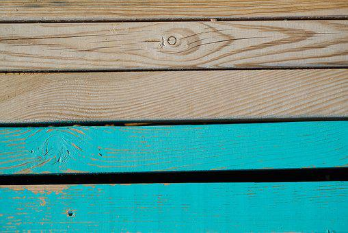 Blue, Wood, Wood-fibre Boards, Wall, Ground, Texture