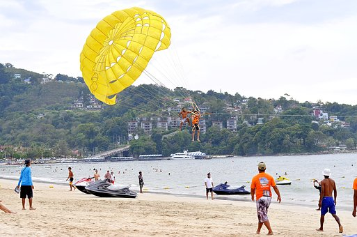 Phuket, Thailand, Parasail, Water, Sport, Beach, Travel