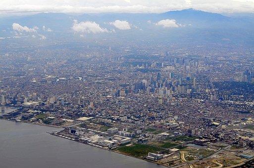 Manila, Philippines, City, View, Plane, Urban, Sky