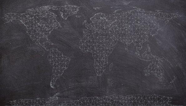 Maps, Map, World, Earth, Travel, Globe, Europe, Vintage