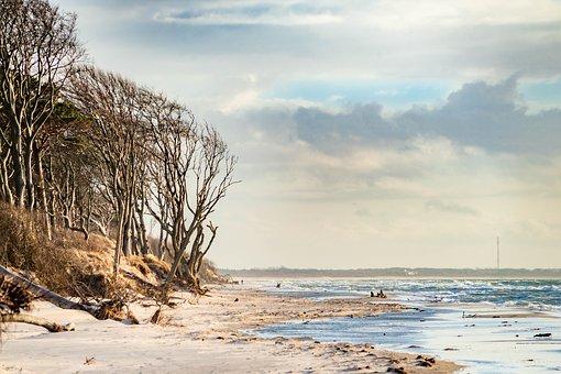 Baltic Sea, West Beach, Fischland-darss, Coast, Wave