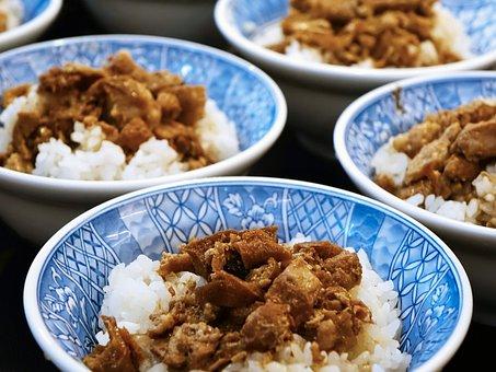 Taiwanese Cuisine, 鲁肉饭, Braised Pork Rice, Rice, Pork