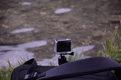 Gopro, Camera, Action, Film, Lake, Photograph