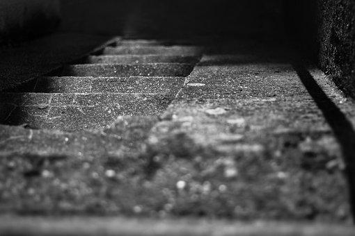 Stairs, Walking, Dark, Atmosphere, Architecture