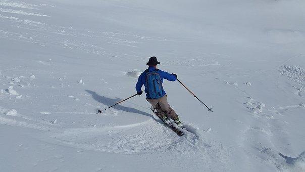 Skiing, Backcountry Skiiing, Skischwung, Touring Skis