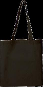 Bag, Cotton, Mode, Black, Plain