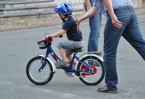 Child, Boy, Bike, On Push, Learn, Cycling, Exercise