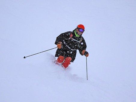 Ski, Virgin Snow, White, Cold, Mountain, Nature, Sport