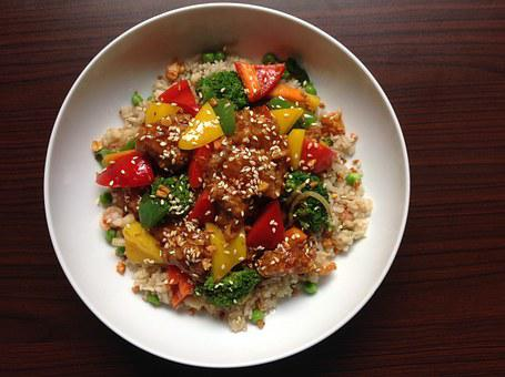 Fried Rice, Rice, Paprika, Broccoli, Pepper, Cooking