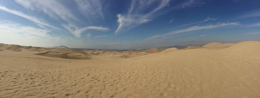 Dunes, Ica, Sandboarding, Huacachina, Peru, Desert