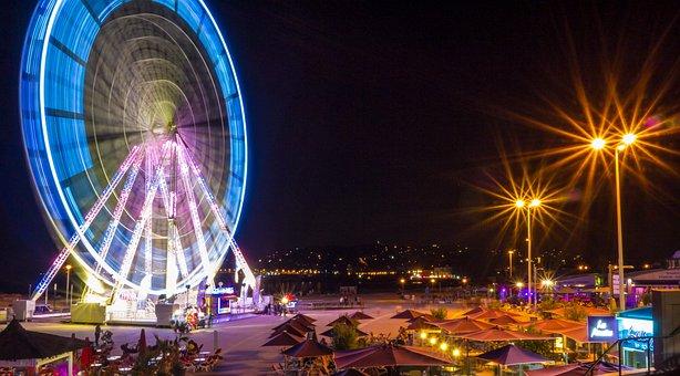 Ferris Wheel, Fair, Night, Great, Festival, Light
