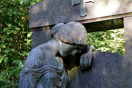 Angel, Fig, Cemetery, Grave, Grave Drupe, Angel Figure