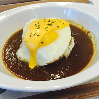 Curry, Curry Rice, Fried Egg, Eggs, Cheese, Bob