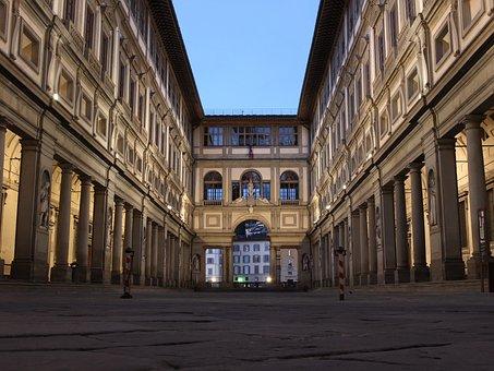 Gallery, Galleria Degli Uffizi, Italy, Florence